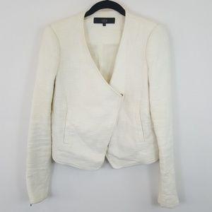 Tibi New York white v-neck jacket size 4
